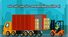 giá cước vận tải container bằng đường biển